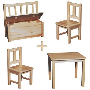 kindersitzgruppe holz mit kinderbank gerne eine kindersitzgruppe weiss oder auch unbehandelt. Black Bedroom Furniture Sets. Home Design Ideas